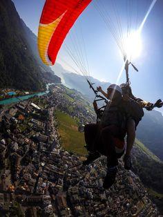 #Paraglading over the #Swiss #Alps ? Check!!! #interlaken #Switzerland #Sport #Europe #Travel @myinterlaken