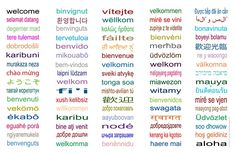 welcome in different languages poster - Google Search