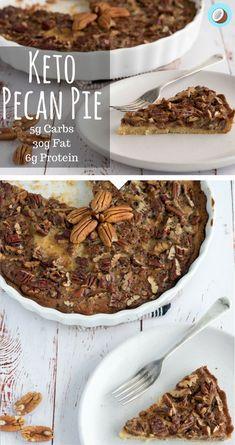 Brandy Keto Pecan Pie – Keto Low Carb Friendly via @fatforweightlos