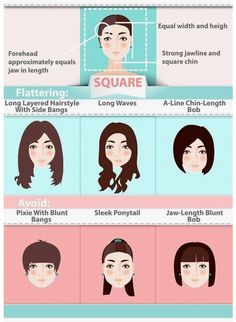 hair hairstyle square face