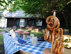 Biergarten der Riessersee-Hütte - The cottages Biergarten - http://www.riessersee.com/