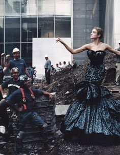 'High Art', Natalia Vodianova by Annie Leibovitz, Vogue US November 2004.  Christian Dior Fall Winter 2004 Haute Couture