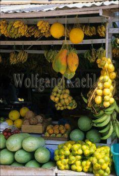 market near the Amazon River in Santarem, Brazil
