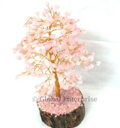 Buy Online  ROSE QUARTZ CHIPS TREE For More Visit The Store  http://www.gemstoneexport.com/ProductDetails/G-Tree-001/