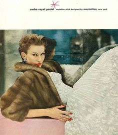 Mary Jane Russell, October Vogue 1956