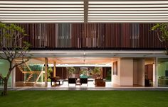 inside out design: Enclosed open house