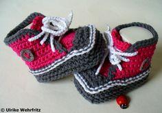 Babyschuhe  10 cm von stricklienes lädchen auf DaWanda.com