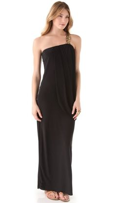 Tbags Los Angeles One Shoulder Maxi Dress. This looks SO comfy and still very classy