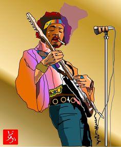 エクセル画でjimi Hendrix 2020 音楽 イラスト ジミヘン 画