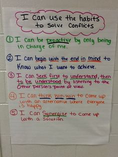 Using the 7 habits books stuff  Elementary School Counselor's Blog: Classroom Guidance