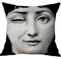 Nordic Style Linen Cotton Fabric Black and White Head Portrait Latest Design Cushion Cover