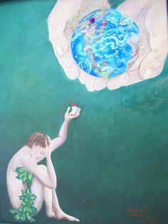 """Christian Art, Mixed Media Original Framed Artwork - """"Covenant Exchange"""". $175.00, via Etsy."""