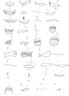 Drawings, manga, anime, mouths, 36 designs to improve your drawing …. Drawing Techniques, Drawing Tips, Drawing Sketches, Art Drawings, Anime Drawing Tutorials, Drawing Hair, Sketch Art, Animae Drawings, Easy Manga Drawings