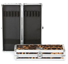Urbanity Makeup Brush and Tool Case in Leopard. With its elastic holders to keep your tools and brushes clean and safe, its a perfect additional storage solution for any beauty case or trolley.