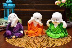 Karigaari Laughing Baby Buddha Resine Showpiece cm x cm x cm, Set of Buddha Idol, Buddha Art, Buddha Peace, Baby Buddha, Little Buddha, Laughing Baby, Deco Zen, Buddha Decor, Sitting Buddha