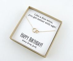 Eternity Necklace Birthday Gift Gold Necklace Gift Box
