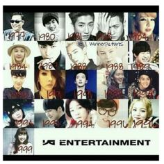 YG family 2014 members birth year! Whom do you share the same birth year with?