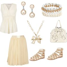Simple Neutral Tones, created by jessicawhite on Polyvore