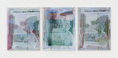 Kelley Walker Screen to Screen 2014 acrylic ink on silkscreen on aluminum frame, triptych each screen: 101,6 x 76,2 x 3,8 cm, 40 x 30 x 1 1/2 in overall: 101,6 x 243,8 x 3,8 cm, 40 x 96 x 1 1/2 in