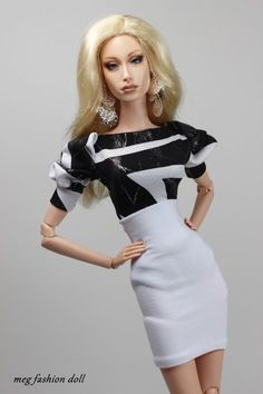 *Meg* outfit for Sybarite/FR16/Fashion Royalty16/''Black & White II''