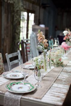 rustic garden table decor