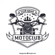 Motorcycle badge Premium Vector