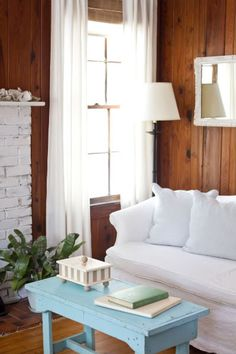 How To Make A Dark Paneled Room Look Fresh Light In 2019 Home
