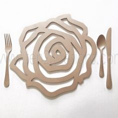 Laser Cut Rose Placemat Charger Plate | Perfect for a garden tea party, wedding, sweetheart table, home decor