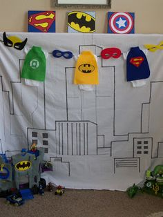 Superhero Baby Shower. Love the onesies with capes!!! @Julie Forrest mead (someday)