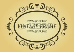 Vintage frame in victorian style for design as a background Illustration