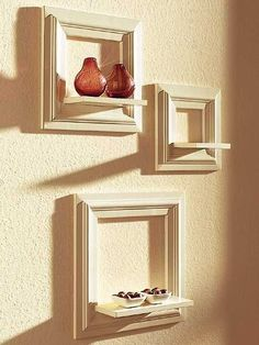 a cute idea for displaying knick-knacks-- no directions, but would be easy to figure out.