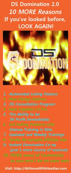 DS Domination 2.0 is fast becoming THE way to start making extra money online. If you are looking for a way out of your current financial mess, and you are not sure what to do, join us. Get in touch we me so I can help you. #WAHM #DSD20 #DSDROCKS #MakeMoney #Newbie