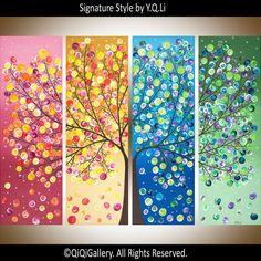 Riesige abstrakte Malerei Acryl vier von QiQiGallery auf Etsy