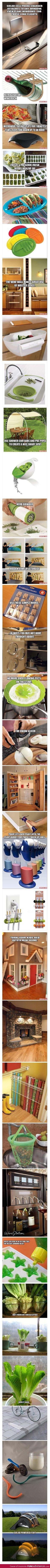 Amazing ideas of awesome. Fridge wine rack?!?