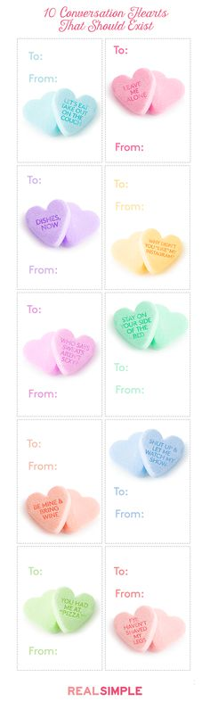 These are the conversation hearts we WISH came in a box.