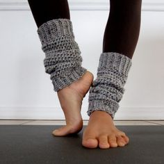 Cozy Grey Crochet Leg Warmers via Etsy