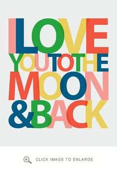 To The Moon Wall Art in Multiple Color Options