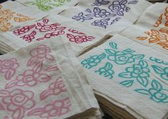 Ruby Victoria Letterpress & Printmaking: printing on Fabric