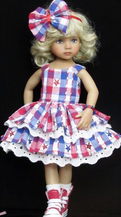 Sweater,sundress,hat set made for effner little darling,effner bjd dolls Ag Doll Clothes, Doll Clothes Patterns, Doll Patterns, Sailor Outfits, Girl Outfits, Pretty Dolls, Beautiful Dolls, Ag Dolls, Girl Dolls