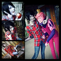 ❤ Marshall Lee and Prince Gumball of Adventure Time with Fiona and Cake!!!!! ❤