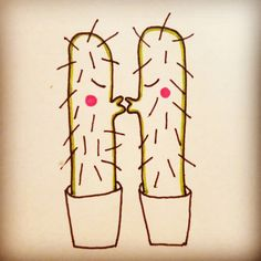 Cactus love by Elena Losada