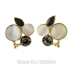 GDSHOP Brincos Bijuterias Fashion Jewelry beige Beads with Graceful Vivid Drop Earrings Brincos Pequenos Earings Fashion Jewelry * You can find more details by visiting the image link. Note:It is Affiliate Link to Amazon.
