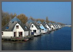 Homes in Almere Buiten, The Netherlands;  photo by Geert fotografeer. Must be floating?