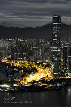West Kowloon Night Scene by carloyuen via http://ift.tt/2mQGQAu