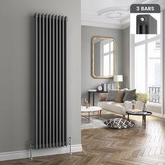 Traditional Cast Iron Style Vertical Radiator Anthracite 3 Column 1800 X 460mm Ebay Bedroom Radiators