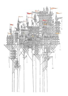 """Zenobia: a city above a dry plain. Based on one of Calvino's """"Invisible cities"""". By David Fleck"""