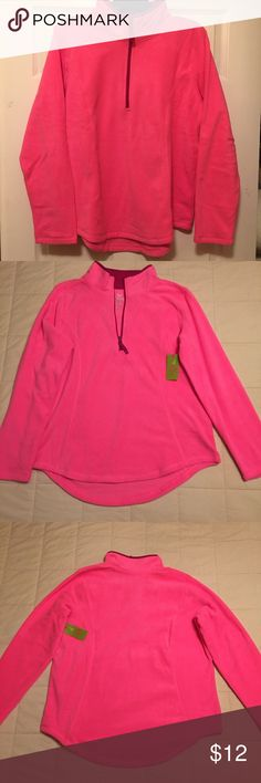Made For Life Fleece Pullover Top Fleece Pullover Long Sleeve Top, zippers from neck halfway down chest. Brand new, with tags! Made For Life  Tops Sweatshirts & Hoodies