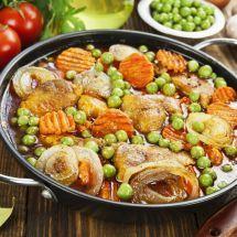 Ma recette du jour : Rôti de porc aux petits pois et carottes sur Recettes.net