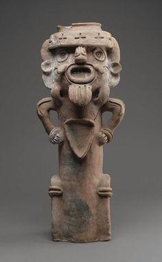 Incense burner top Maya , A.D. 400–600. -1