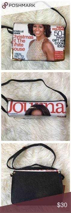 Michelle Obama Magazine Print Purse Michelle Obama Magazine Print Purse with an adjustable shoulder strap. Bags Shoulder Bags